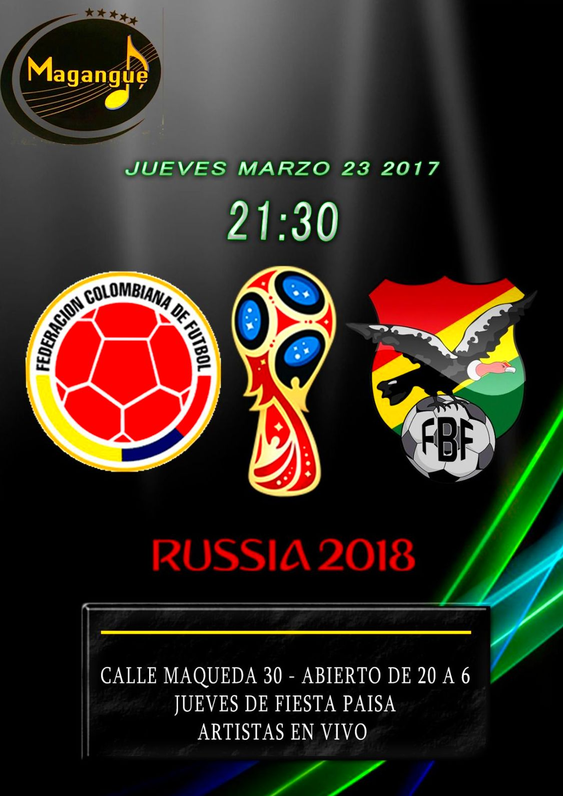 ELIMINATORIAS al mundial COLOMBIA vs BOLIVIA!!!