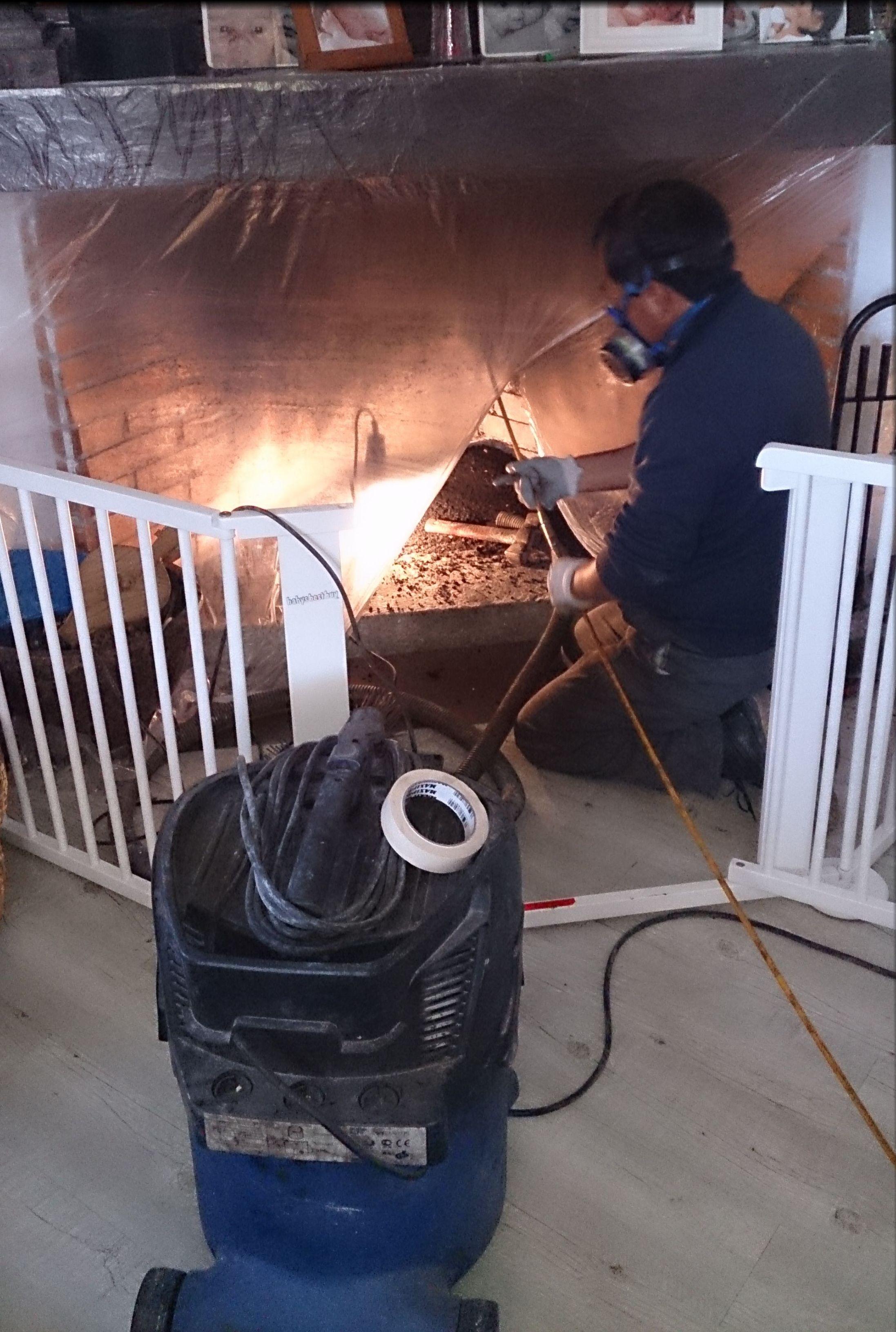 Limpieza chimeneas de leña