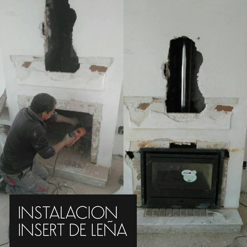 Instalaci n insertables cassette y estufas de le a - Instalar chimenea de lena ...