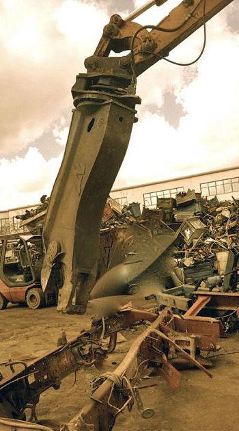 Máquina para el reciclaje de chatarra