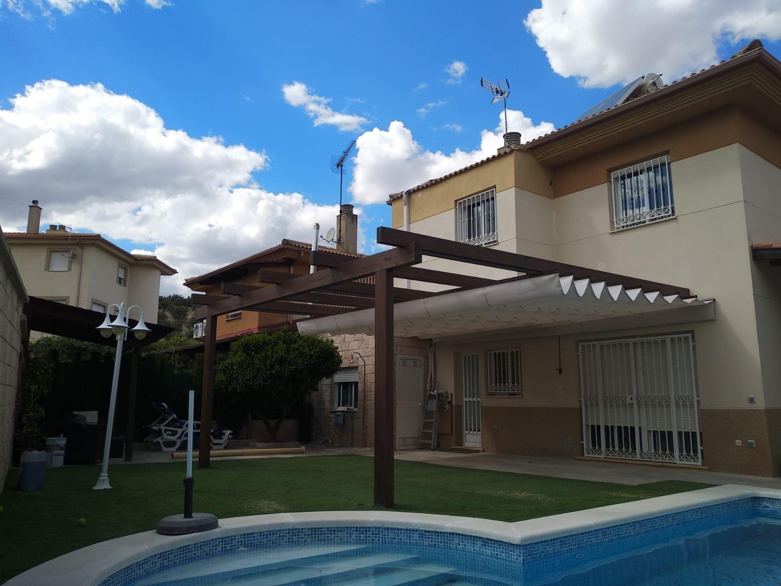 Porches y pérgolas de madera en Jaén