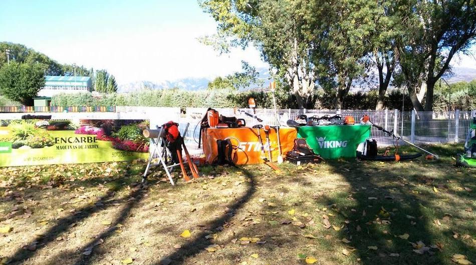 Demostración de máquinas de jardinería