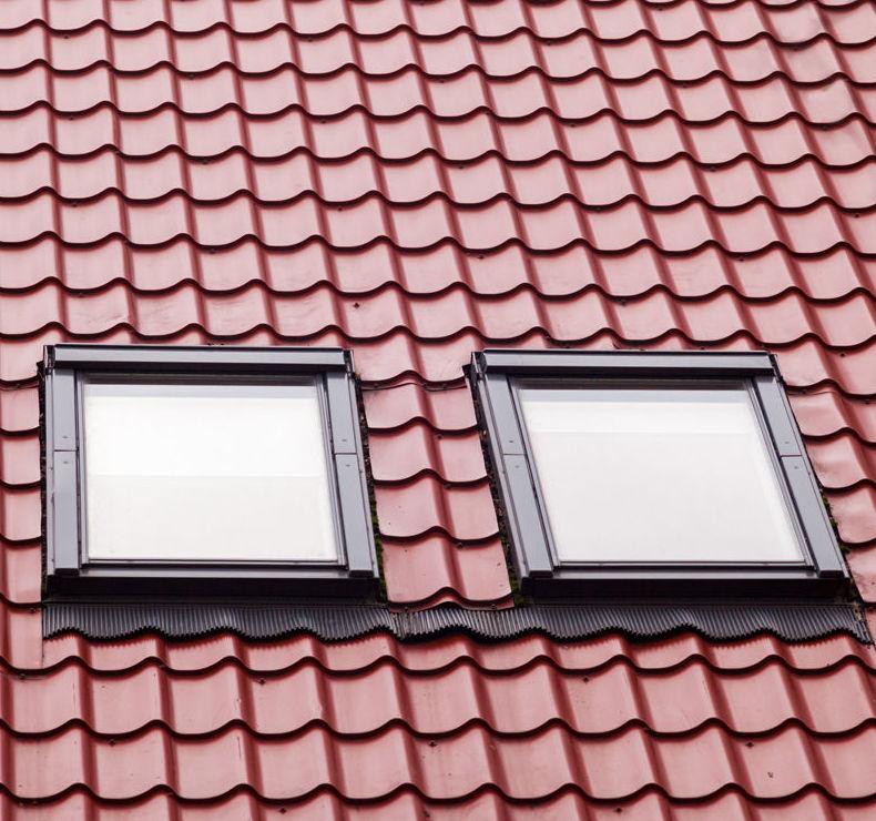 Ventanas de PVC en tejado