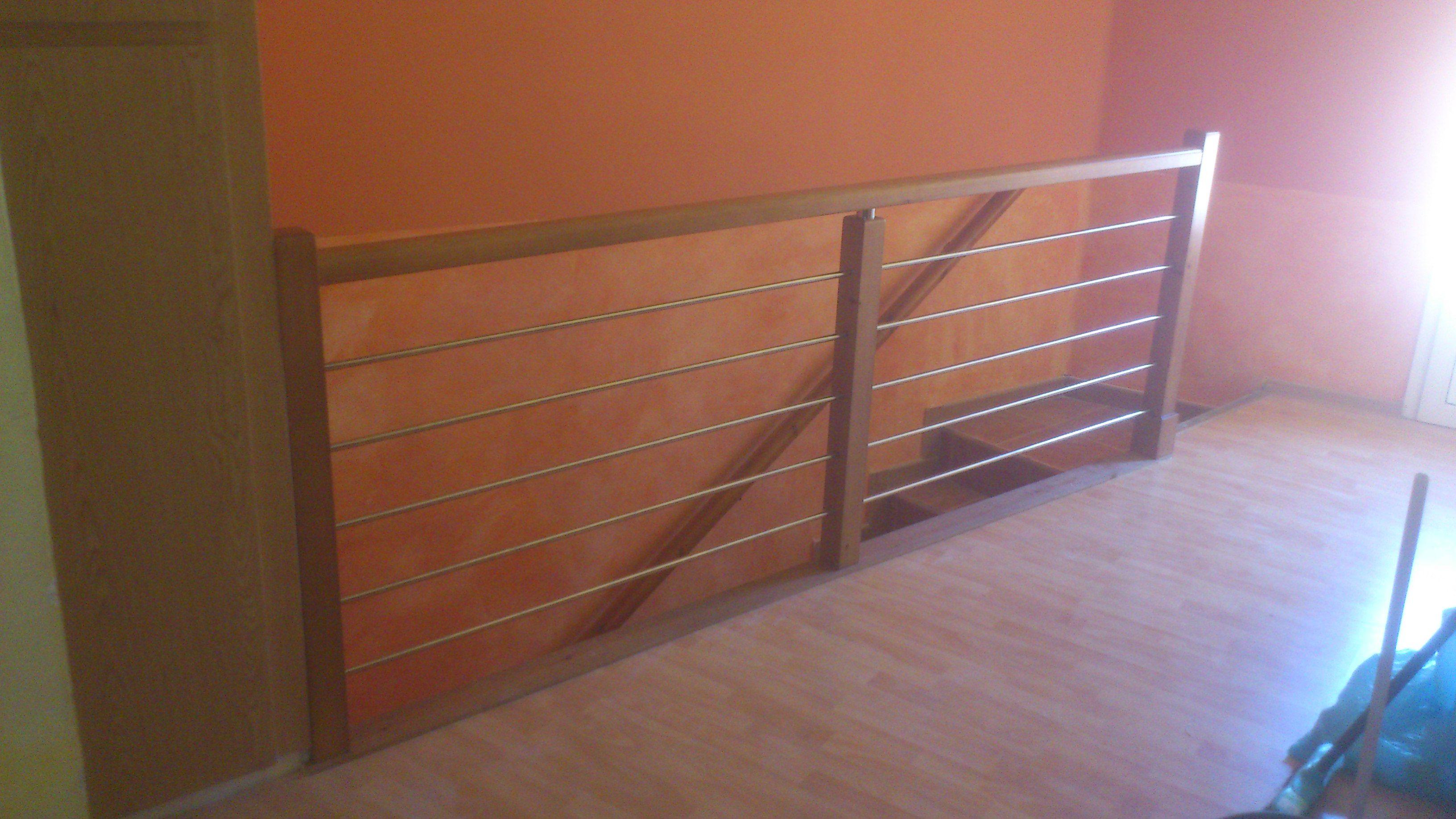 Barandillas de escalera combinadas con metal