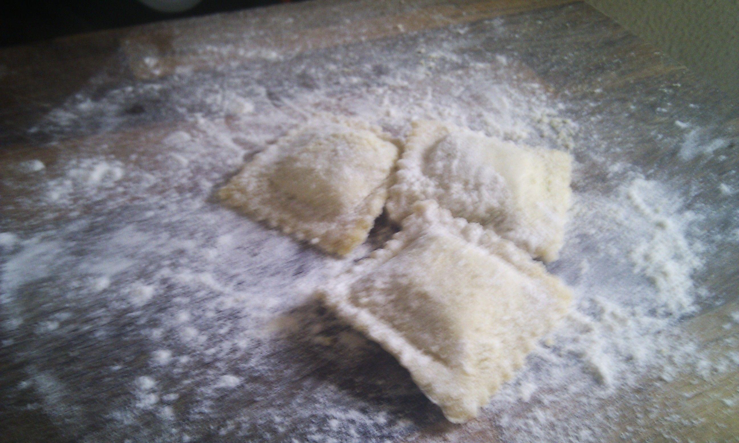 Ravioles de Espinacas, ricotta y parmiggiano
