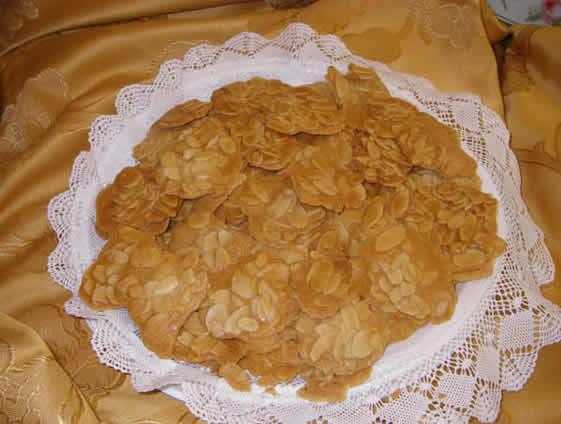 Tejas de almendra sin gluten: Productos  de Tejas Artesanas de El Puerto