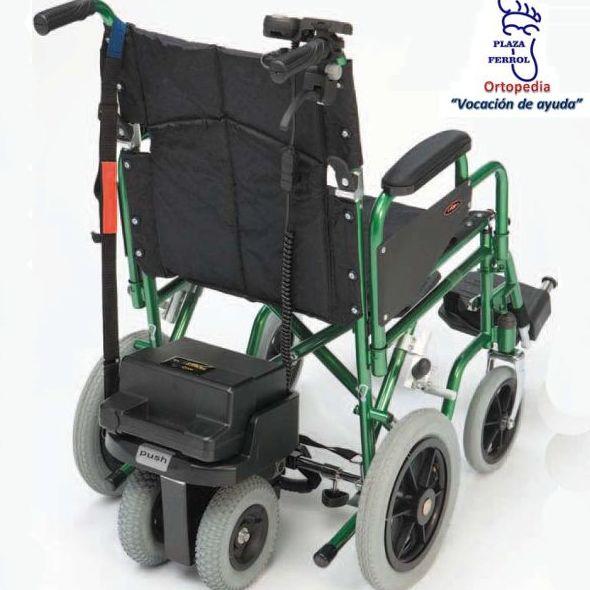 Unidad de propulsión acoplado a una silla de ruedas manual