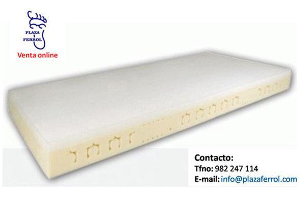 Colchón antiescaras viscoelástico con plataforma en T