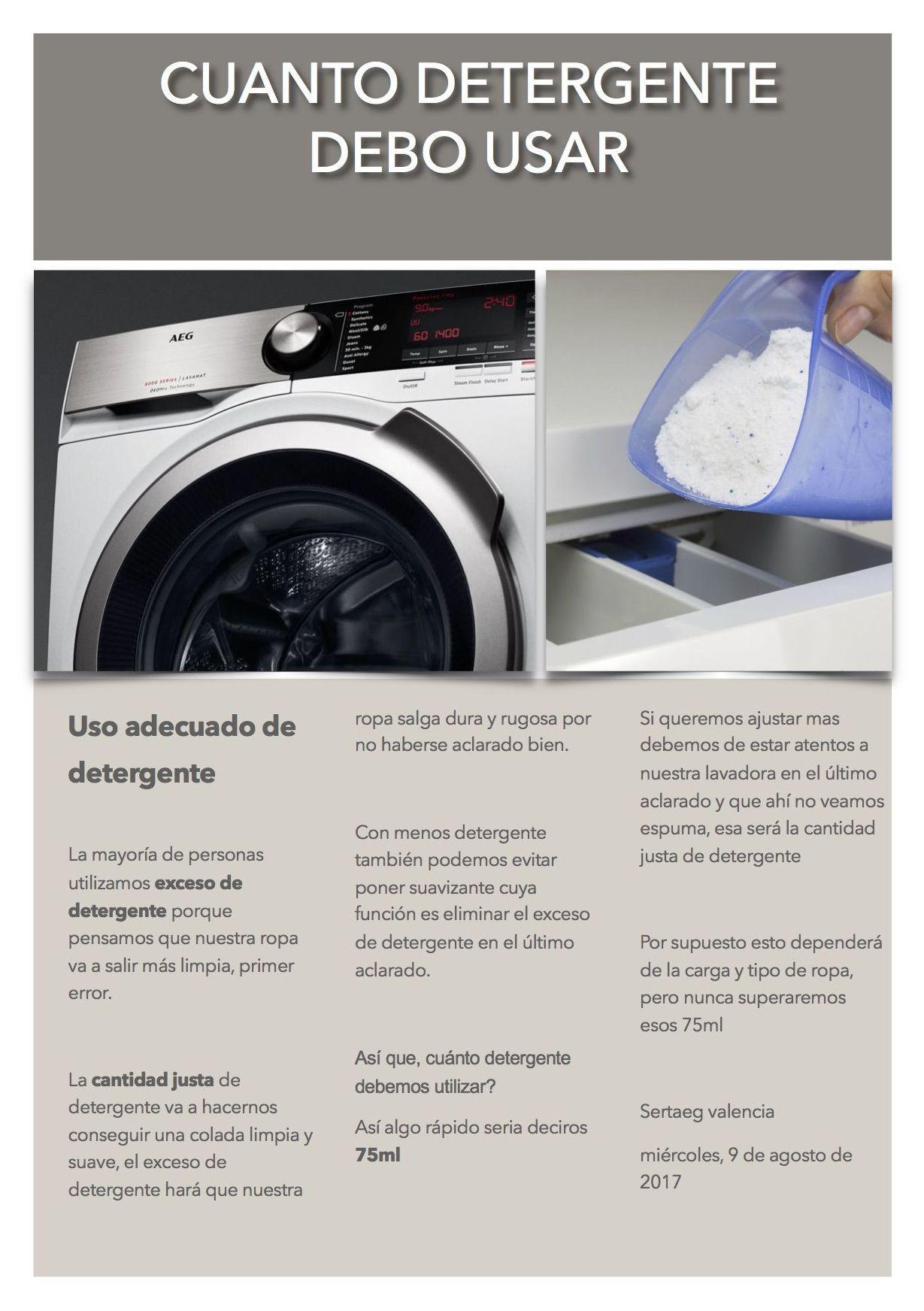 Uso adecuado de detergente