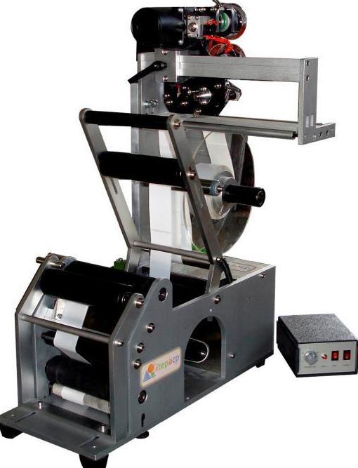 Etiquetadora semiautomática de botellas redondas: Catálogo de Maquinaria de Pymar