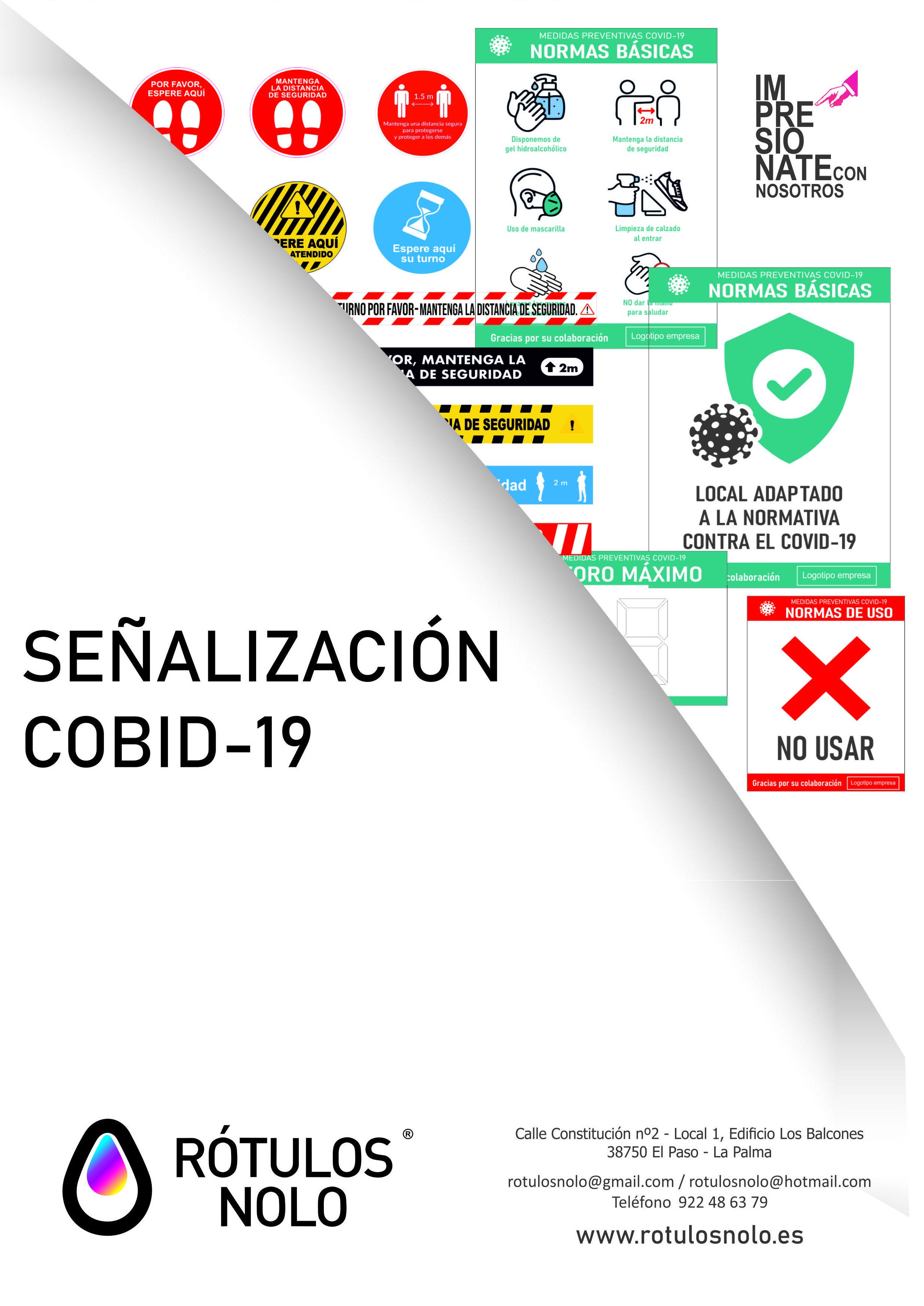 Catálogo de señalización Cobid-19: Servicios de Rótulos Nolo