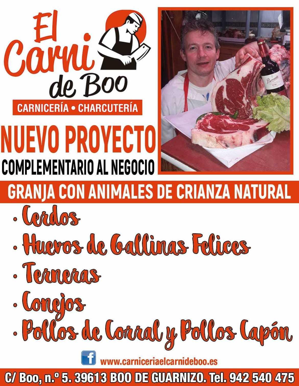 Granja con animales de crianza natural: Productos de El Carni De Boo Carnicería-Charcutería