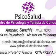 Psicóloga Clínica Gandía, Amparo Sanchis García