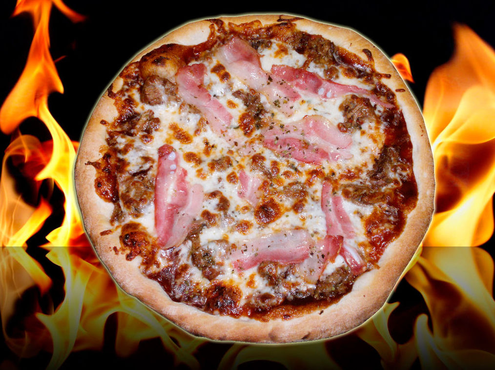 Pizza barbacoa de carne