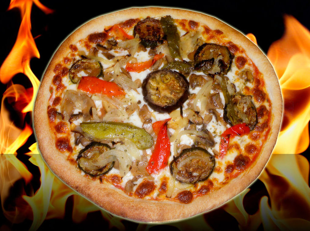 Pizza barbacoa vegetal