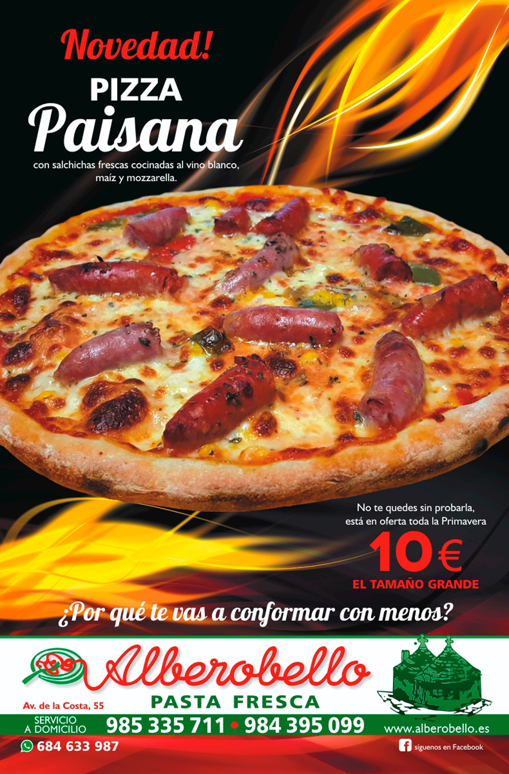 Nueva pizza paisana
