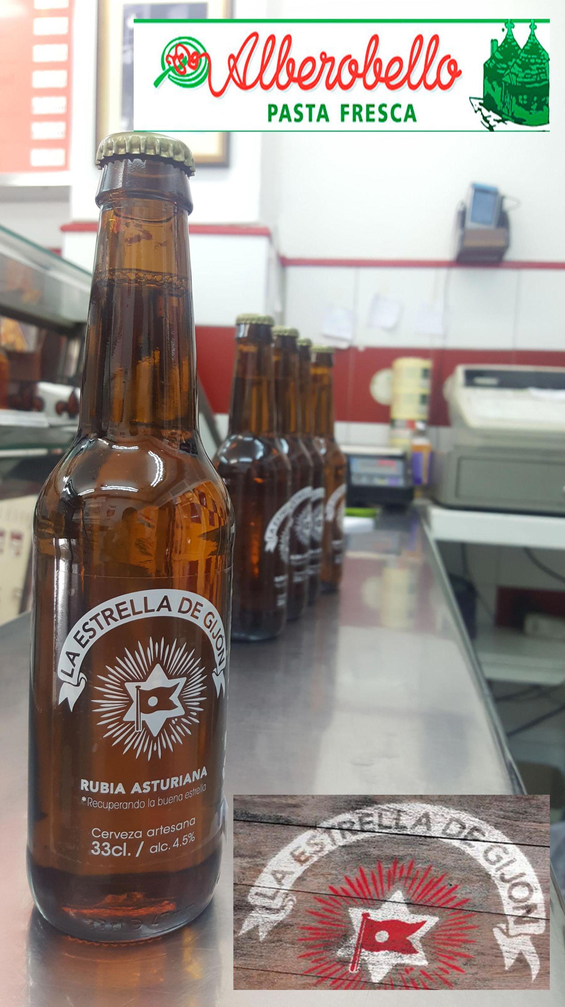 Cerveza La estrella de Gijón en alberobello