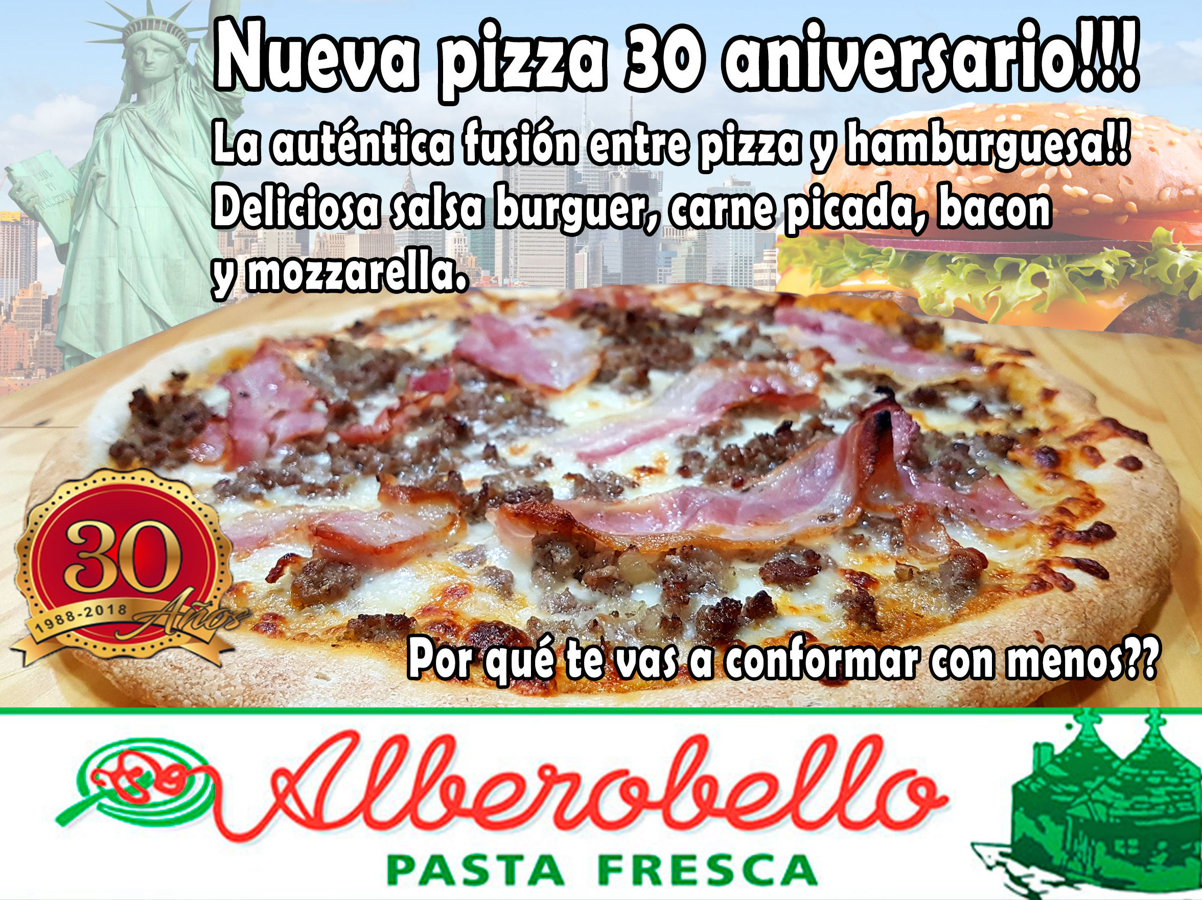 Pizza 30 aniversario