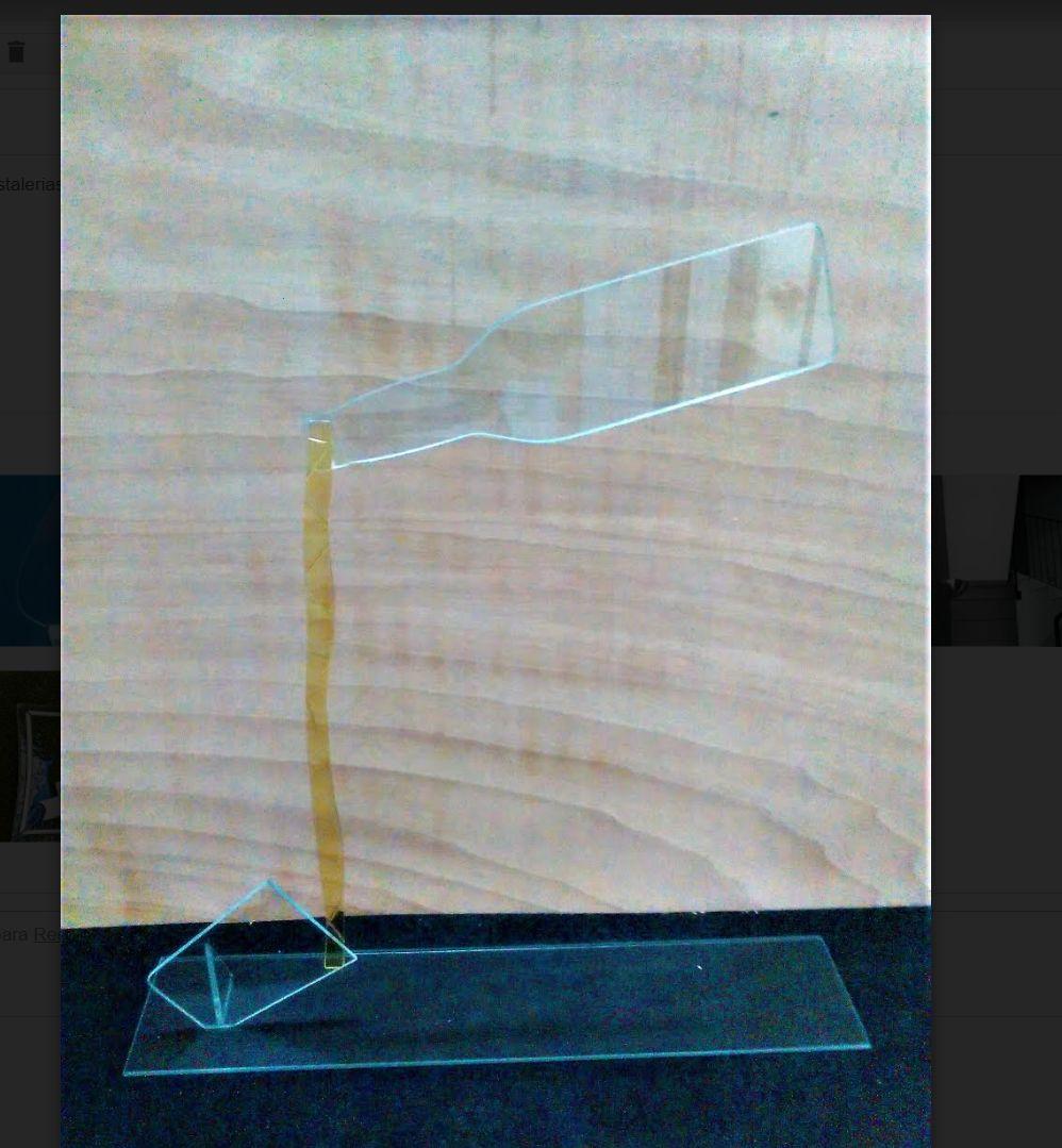 Elemento decorativo en cristal