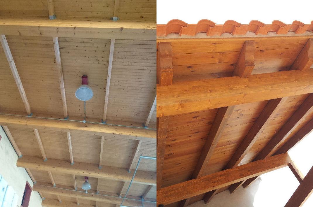 Pérgolas y techos de madera