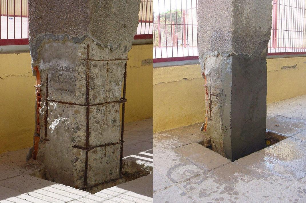 Reparaciones estructurales de hormigón