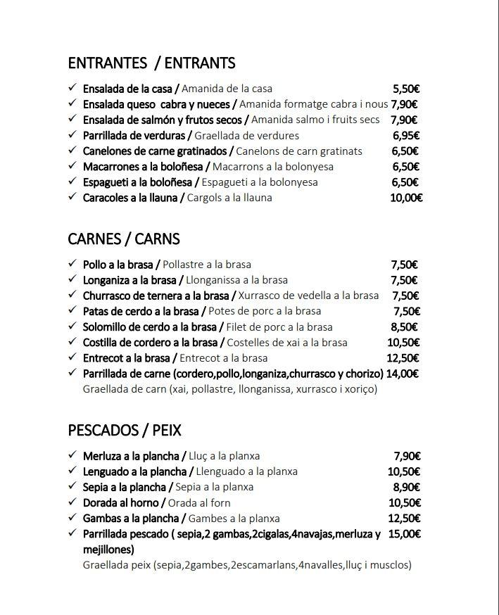 Entrantes: Servicios de Restaurant Masía Villa Orce