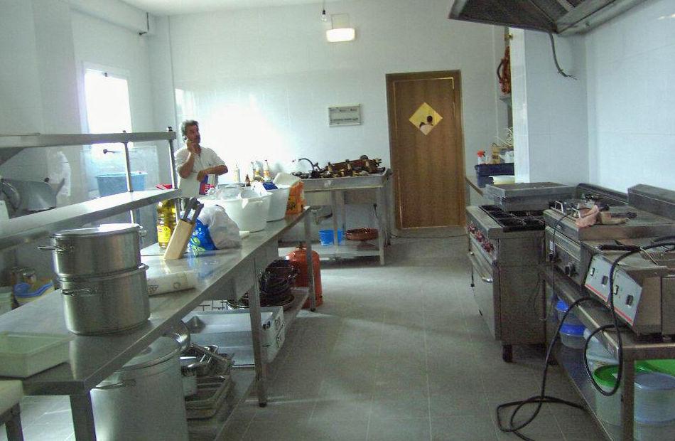 Interior de la cocina del restaurante