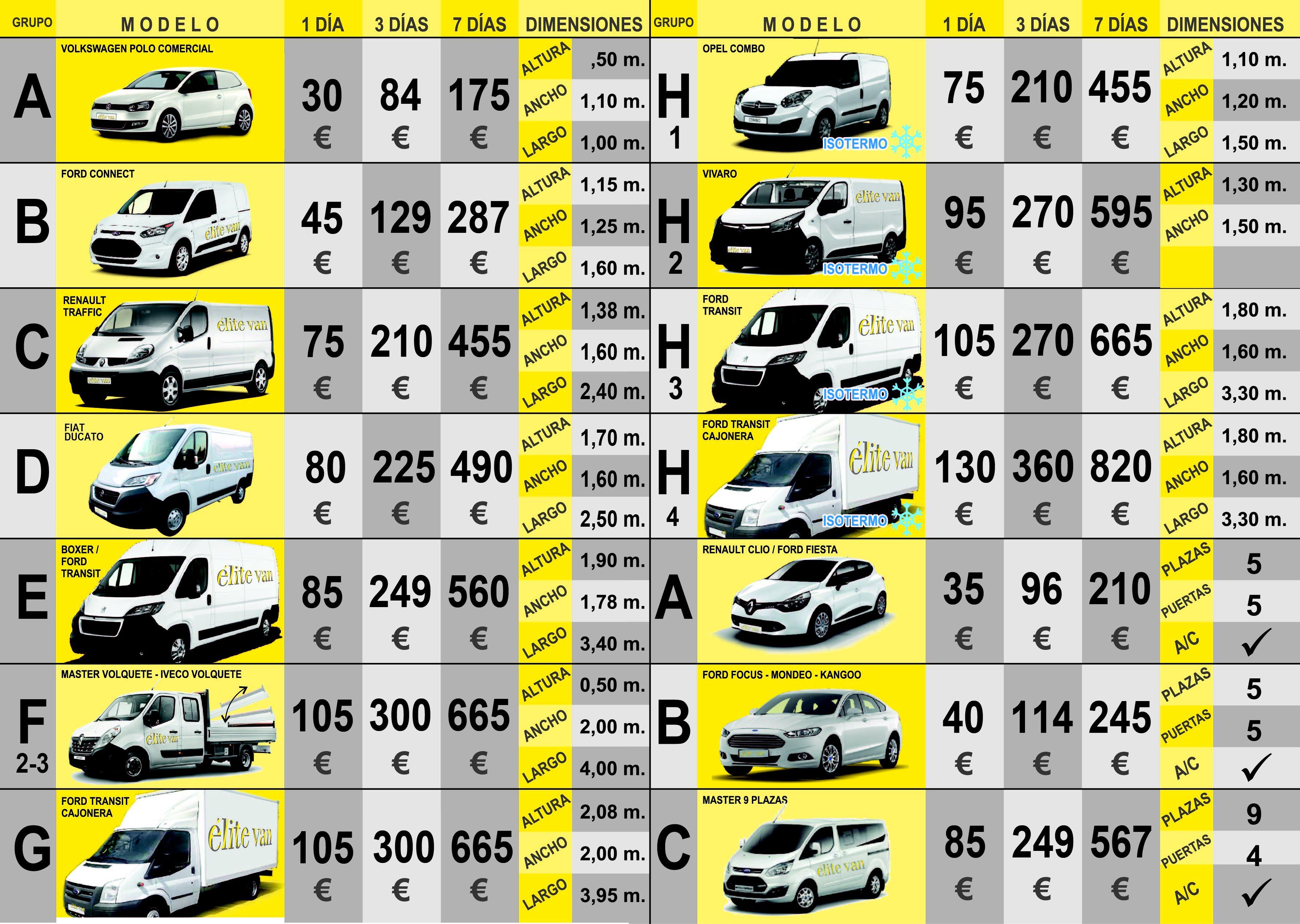 Foto 14 de Alquiler de furgonetas en  | Elite Van