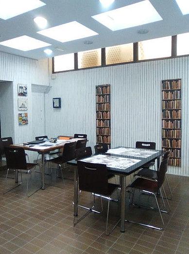 Detalle sala de estudio