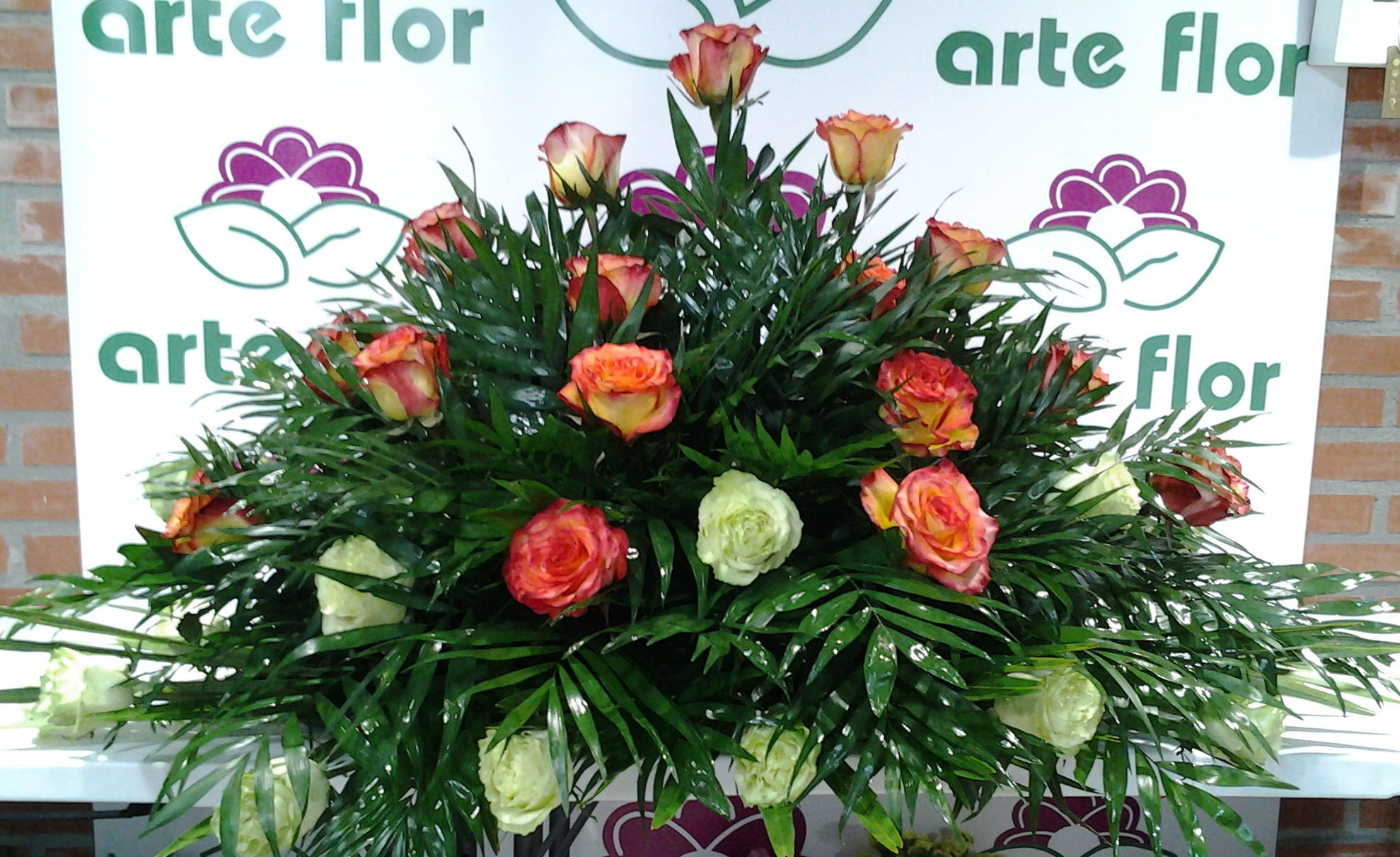 Palma de 30 rosas : Servicios de Arte Flor