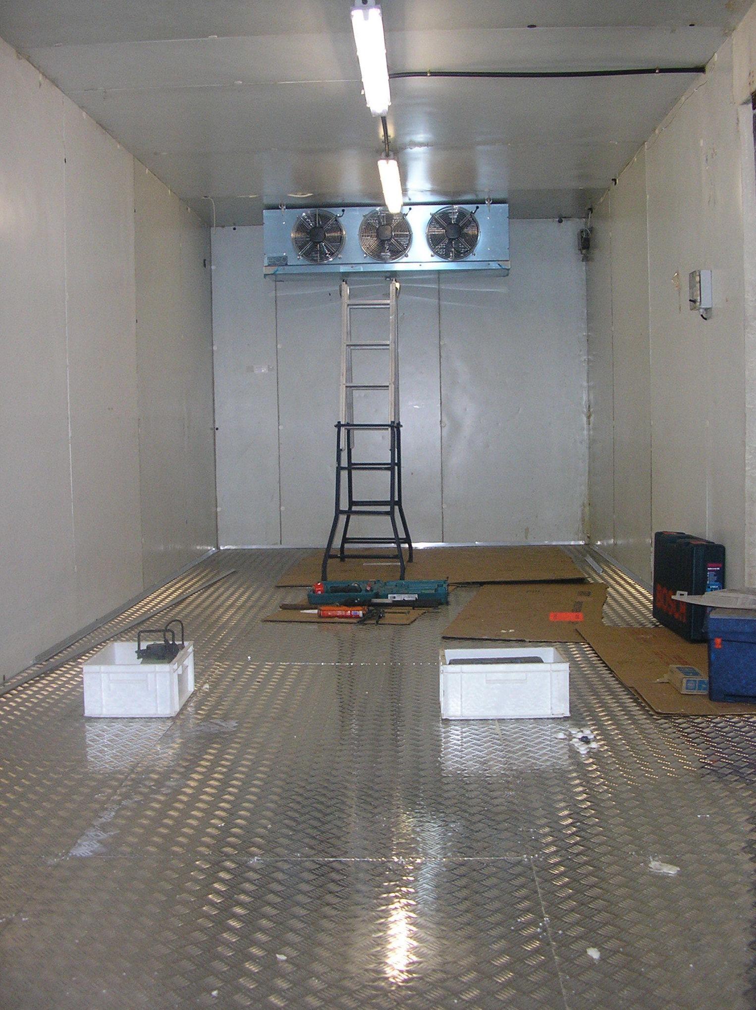 Instalación de cámaras de refrigeración