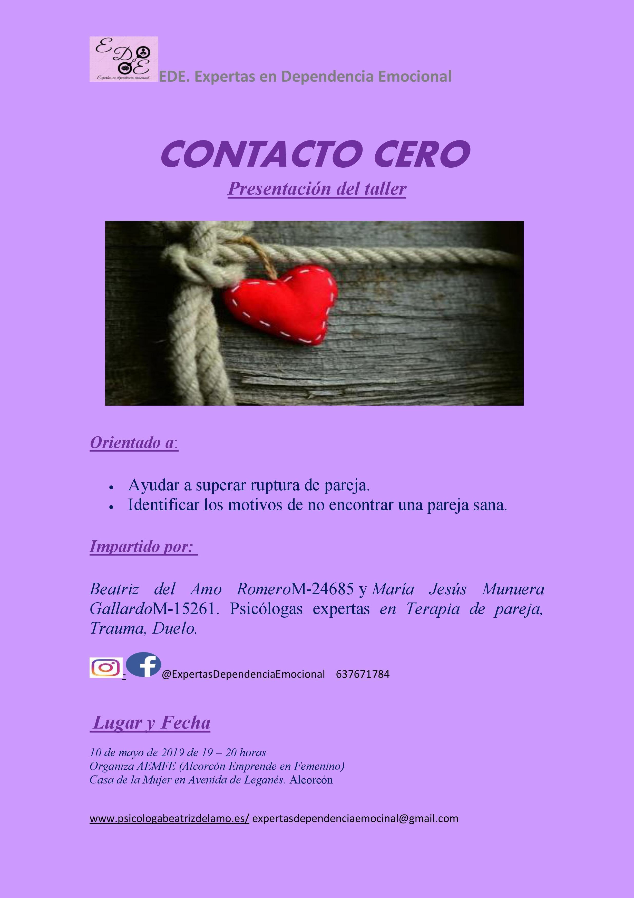 Presentación Taller Contacto 0. Próximo 10 de mayo