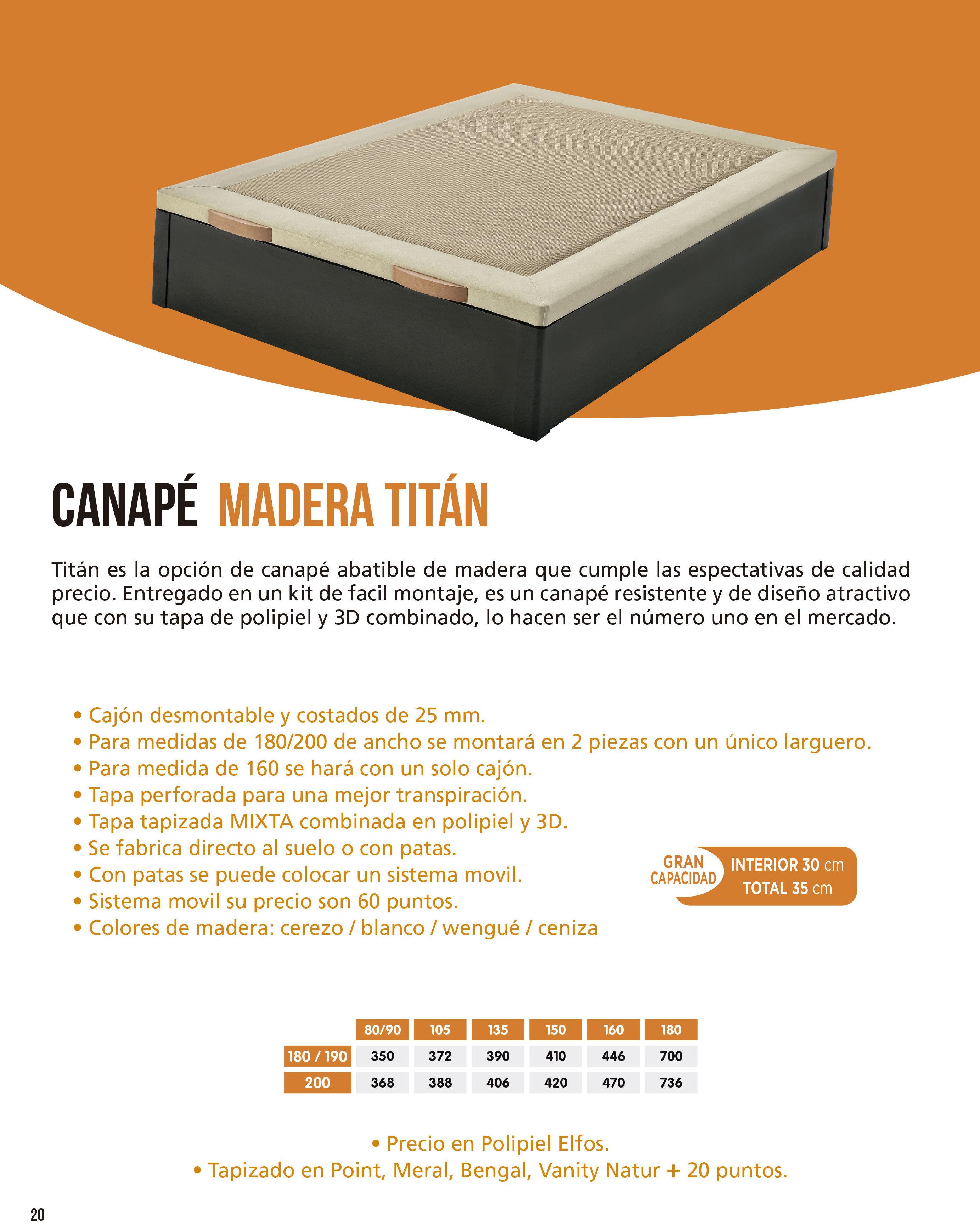 Canapé Madera Titán