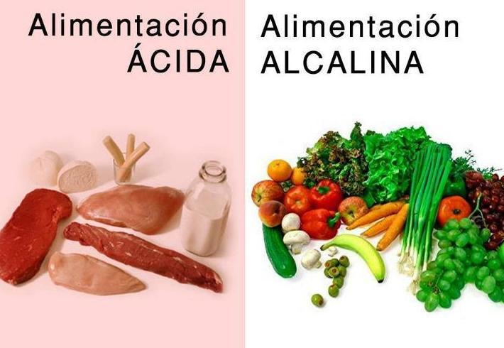 Alimentación ácida y alcalina