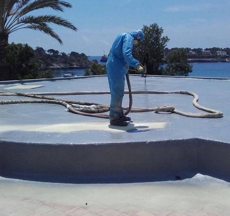 Proyección de poliuretano en Mallorca