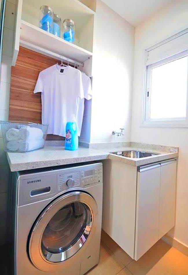 amueblado de zona de lavado