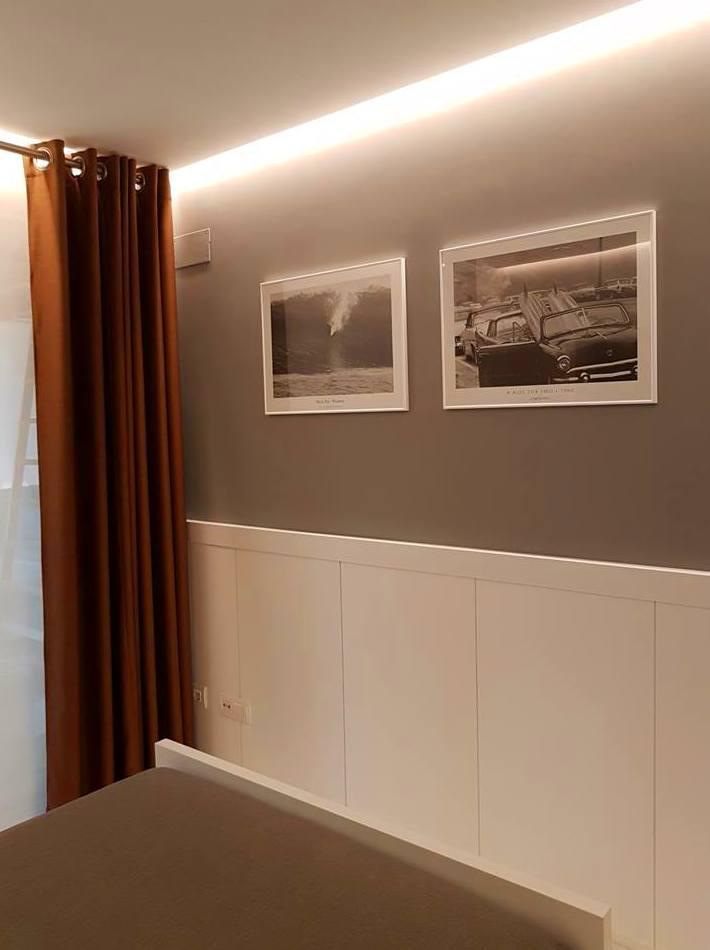 Sencillez y elegancia en zócalo alto pared