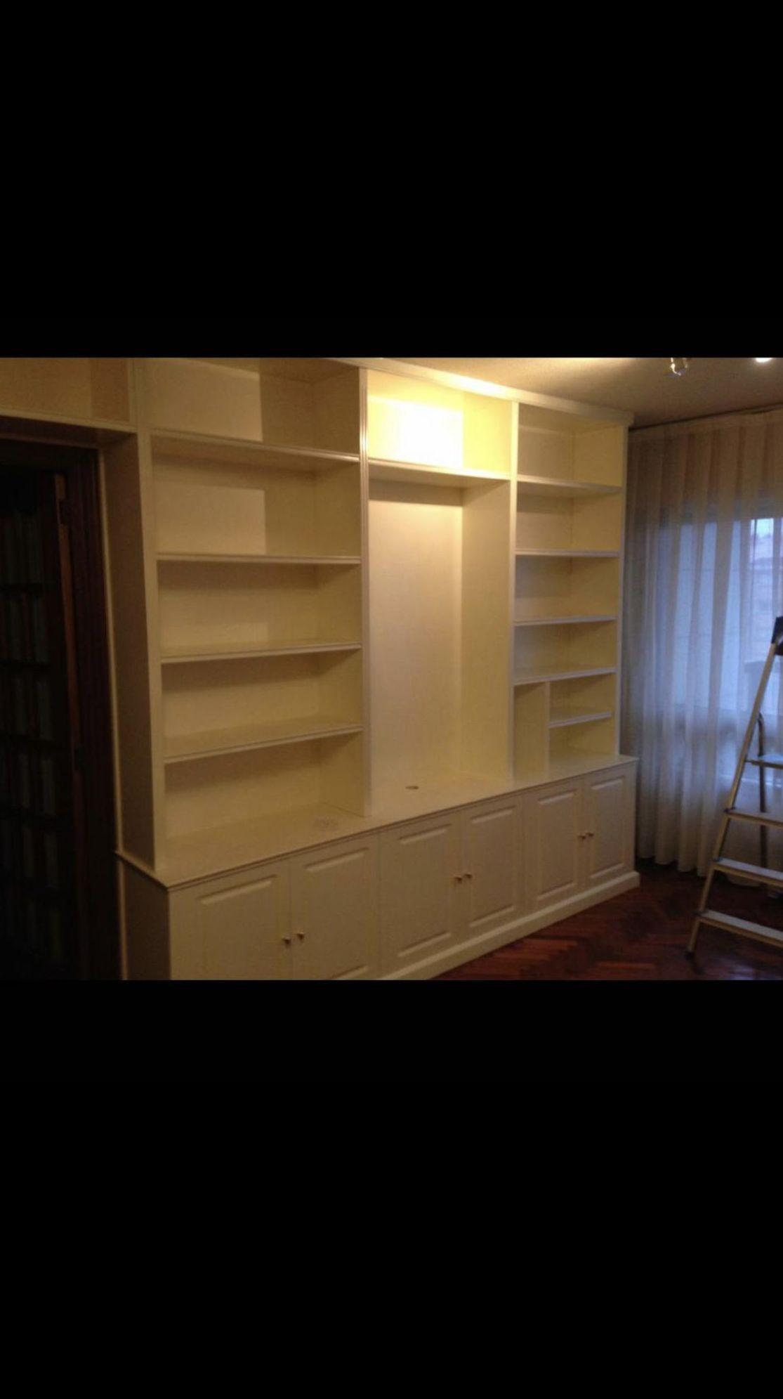 Mueble salón lacado color