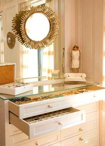 mueble joyero lacado en color blanco