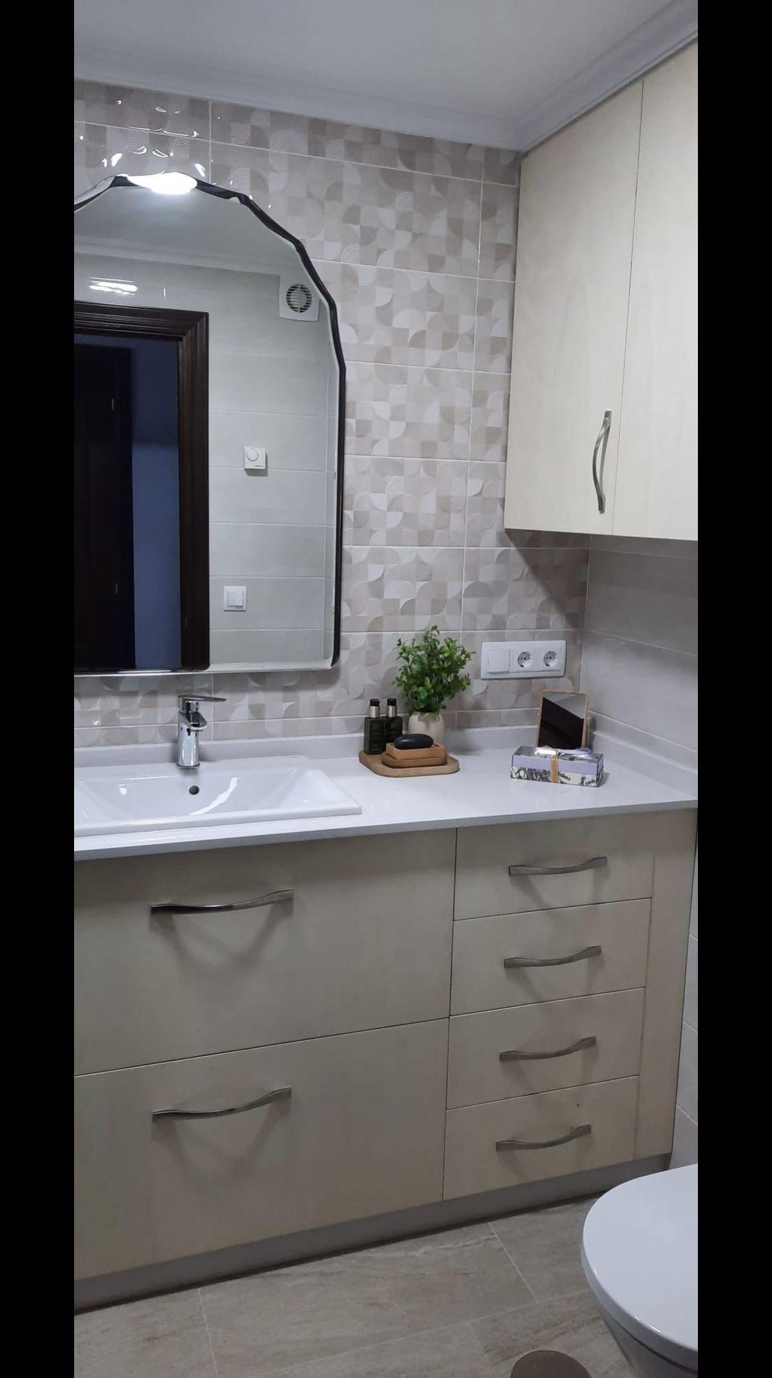 Mueble lavabo y de colgar para el cuarto de baño