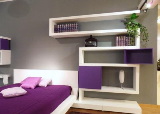 dormitorio y estantería