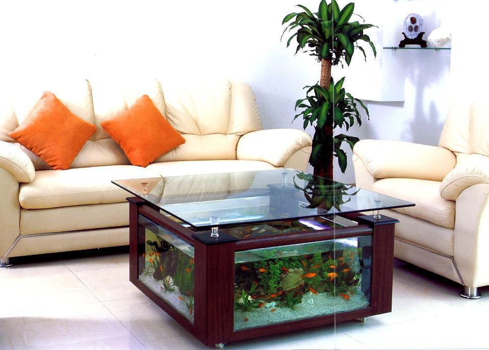 mesa de centro con acuario Antonio Lugo