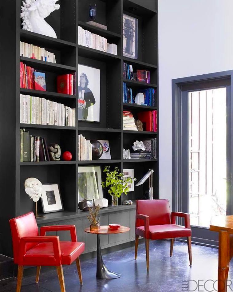mueble de salón lacado en color negro mate