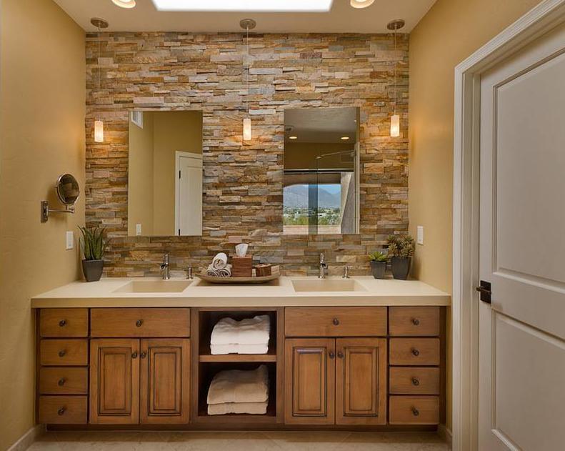 precioso mueble de baño rústico
