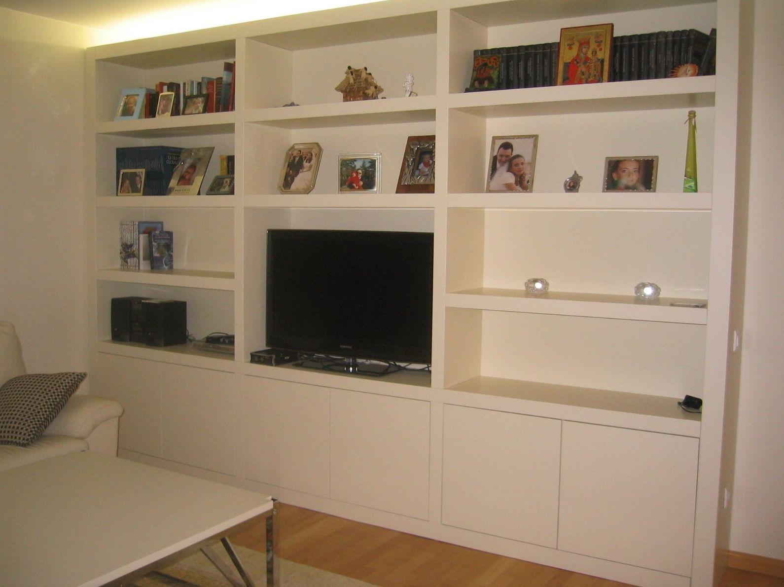 Mueble blanco para salón