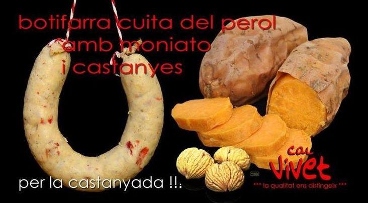 Butifarra con moniatos y castañás