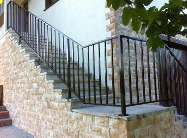 Barandilla de escalera en hierro