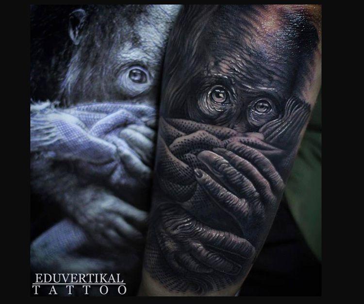 Tatuaje orangután
