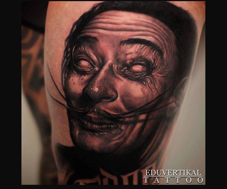 Tatuaje de Dalí