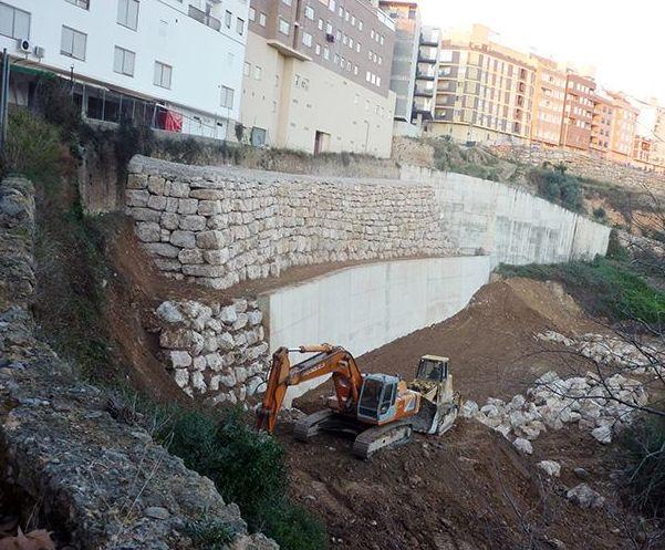 Muro de rocalla para contención importante